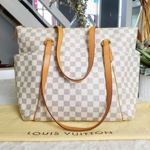 💕Authentic LV Totally MM Damier Azur